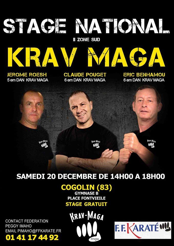 Affiche Krav Maga Jérôme ROESCH Claude POUGET Eric BENHAMOU