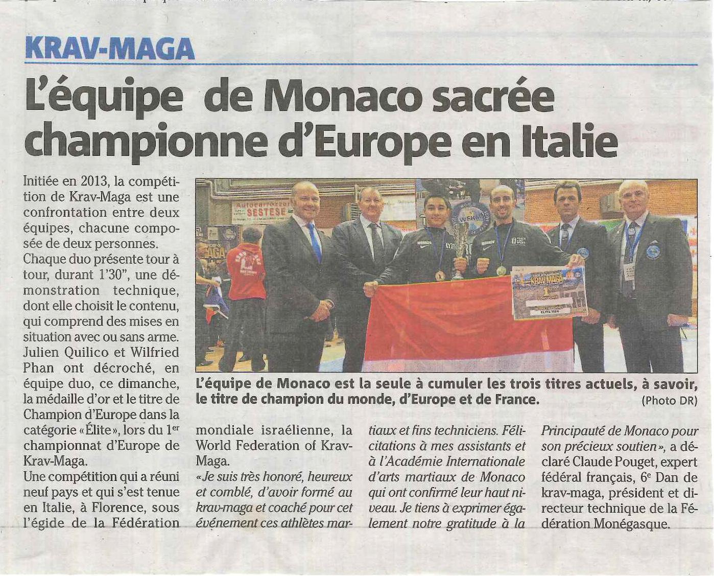 Monaco Matin Krav 22 11 2018